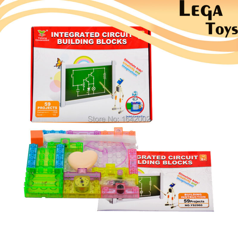 59 Projects Integrated Circuit Building Blocks Learning&Education Toys for Kids Physics Learning,LegoBlocks Educational Tools physics education
