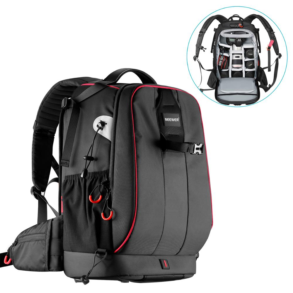 Neewer Backpack-Bag Case Padded-Camera Anti-Theft-Combination Waterproof with Lock Adjustable title=