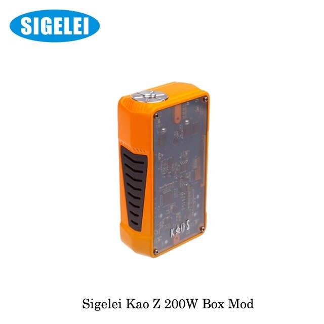b2f4c63cbced97 200W Sigelei Kaos Z TC Vape Box Mod Electronic Cigarette Powered by 18650  Battery not include VS Smok Alien Box Mod Starter Kit-in Electronic  Cigarette Mods ...