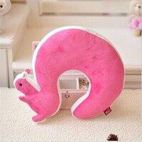 Nap Adult Massage Pillow Novelty Squirrel Animal Cotton Plush U Shape Neck Travel Car Home Health