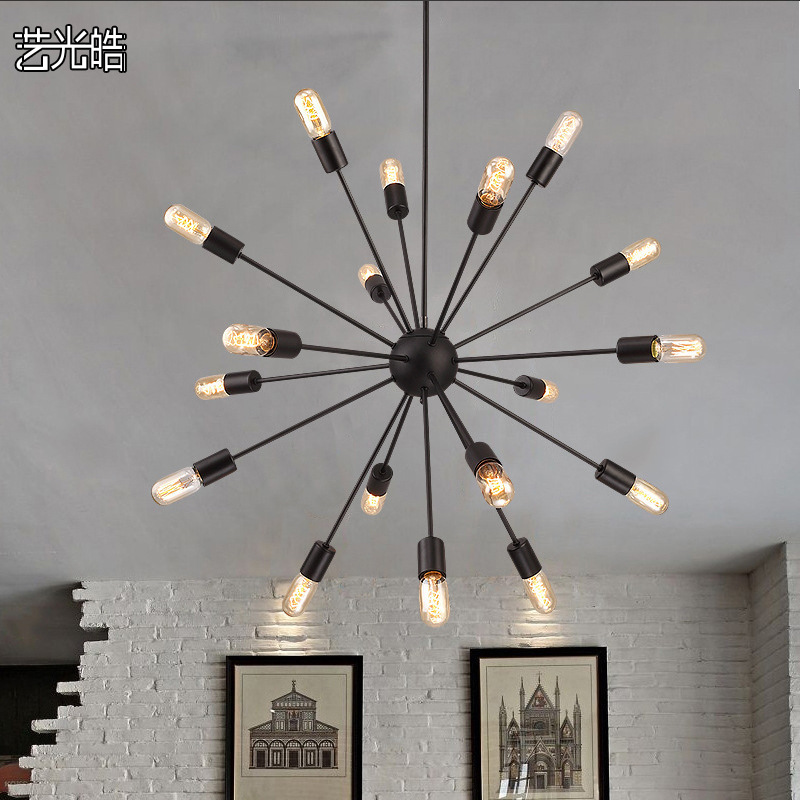 Us 152 0 20 Off Retro Industrial Style Led Chandelier Iron Suspended Lamps Cafe Decoration Fixtures Home Lighting Living Room Hanging Lights In