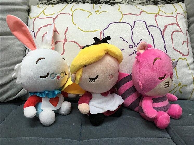 18cm Kawaii Alice In Wonderland 2 Plush Toys Cheshire Cat Alice