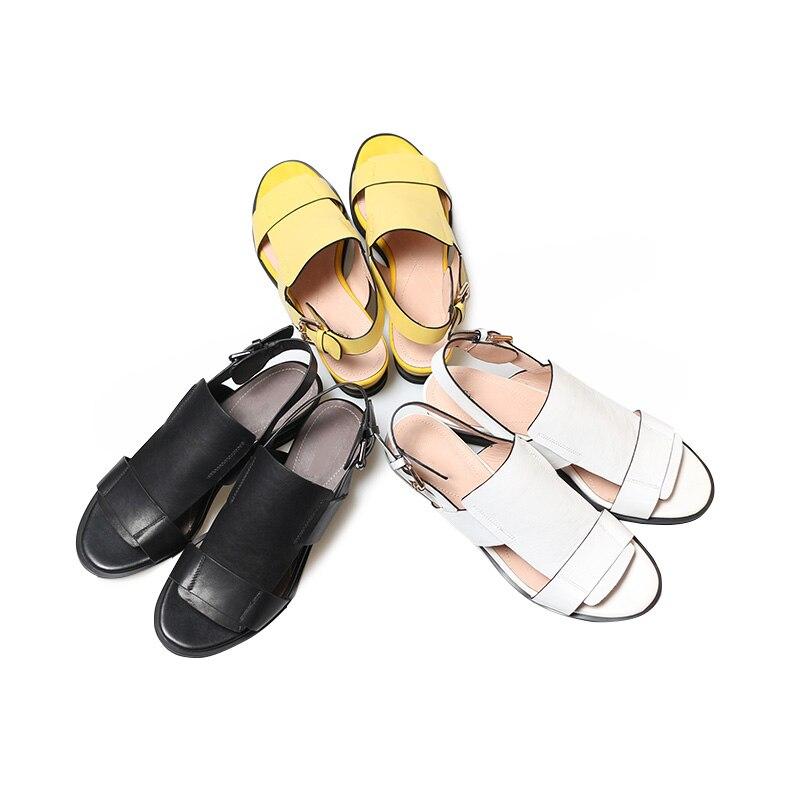 Open New Pelle Sandali Wet di Casual Toe Black Gladiatore donna White Summer Scarpe Kiss Zeppe Yellow Ladies Fashion 2019 mucca 1n0xfWW