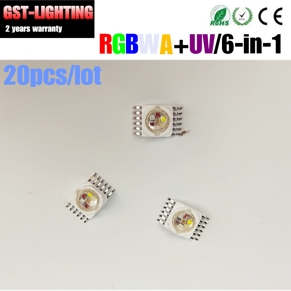 20PCS/LOT RGBWAUV 6 IN 1 LED LAMP Chips Rgbwap  6-in-1 Lamp TianXin Brand TYANSHINE Led Chip For Led Light