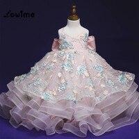 Розовые Платья с цветочным узором для девочек; платья для причастия; Vestido Longo 2018; вечерние платья для девочек; Детские платья на свадьбу