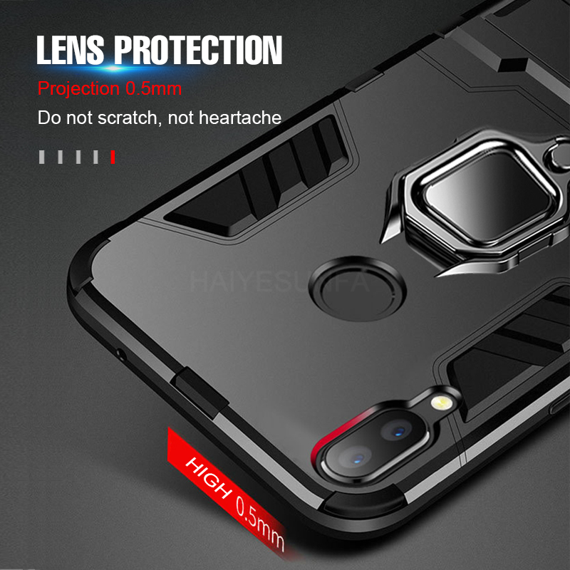Luxury Shockproof Car Magnetic Bumper Case For Xiaomi Redmi Note 7 5 6 Pro k20 Case Cover For Xiaomi Redmi K20 Pro 6A Ring Case