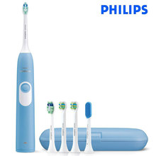 PHILIPS Sonicare взрослая перезаряжаемая электрическая зубная щетка HX6275-31000R/M защелкивающаяся головка щетки в течение 2 недель для одной зарядки 220 В
