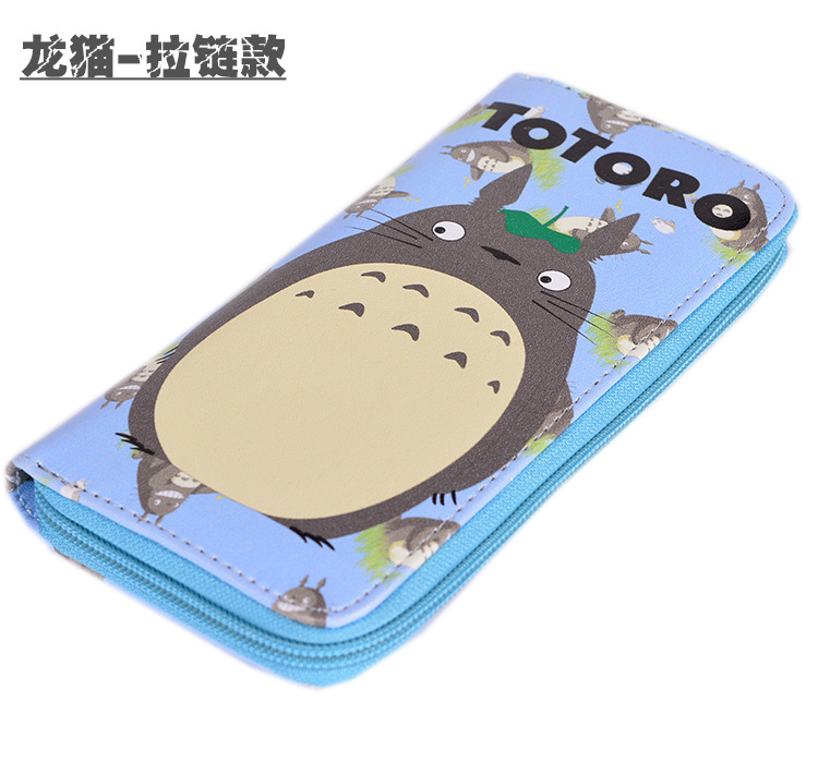 Anime My Neighbor Totoro Multifunction Long Wallet/Tonari No Totoro Cell Phone Clutch Purse/Portable Cash Purse цены