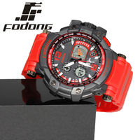 Fodong Yellow Color Silicone Straps Sports Digital Watch New Design Water Resistant Luminous Quartz Watches Relogio