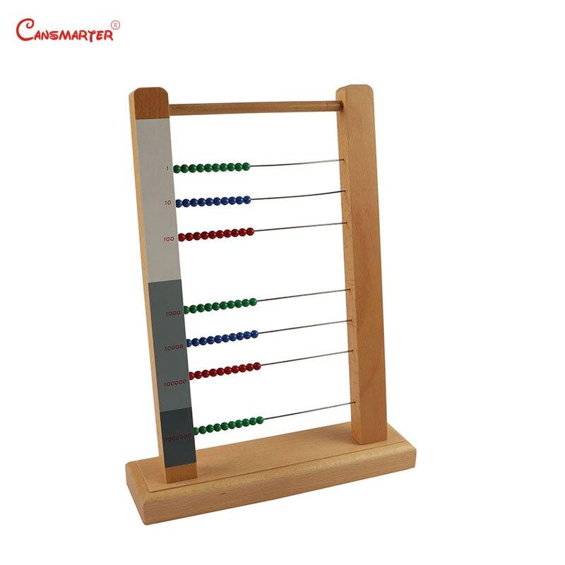 Soroban Abacus cadre jouet enfants Montessori matériaux jeu éducatif aides pédagogiques apprentissage maths jouets en bois amical MA070-3 - 2