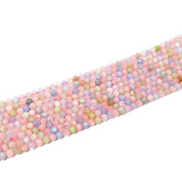 Lii Ji Morganite Beryl Round shape Faceted bead Approx 4mm DIY Jewelry Making Necklace or Bracelet Approx 39cm