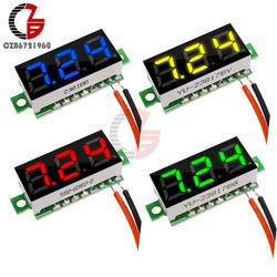 0,28 дюймов DC 12 В Мини цифровой вольтметр напряжение метр Панель Вольт тестер детектор мониторы 2 провода красный зеленый синий желтый