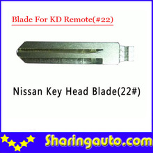 Free shipping (10 pcs/lot)Metal Blank Uncut Flip Remote Key Blade Type #22 for Nissan