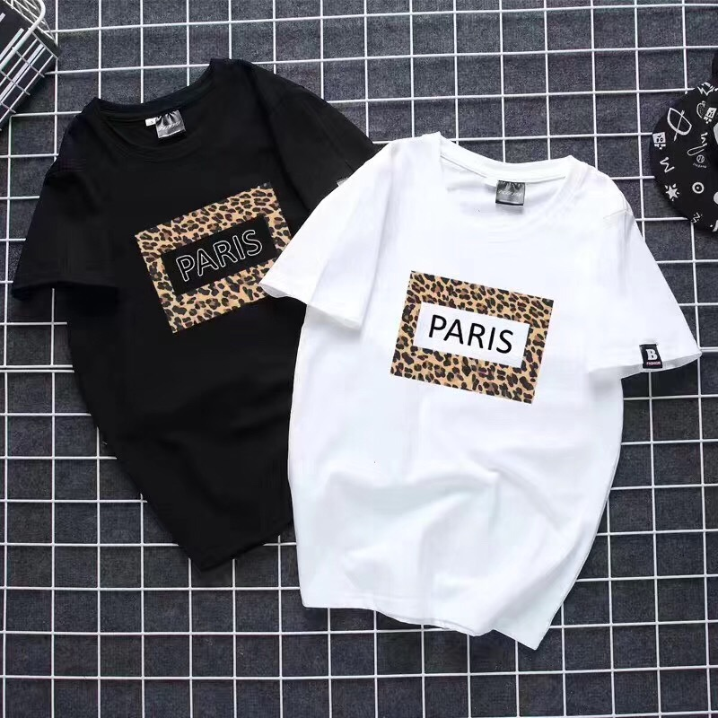 WSFS   T     Shirt   Women Summer Short Sleeves Tee   Shirts   Tops Harajuku Leopard Print Tshirt 65% Cotton Ulzzang   T  -  shirt   Women Plus Size