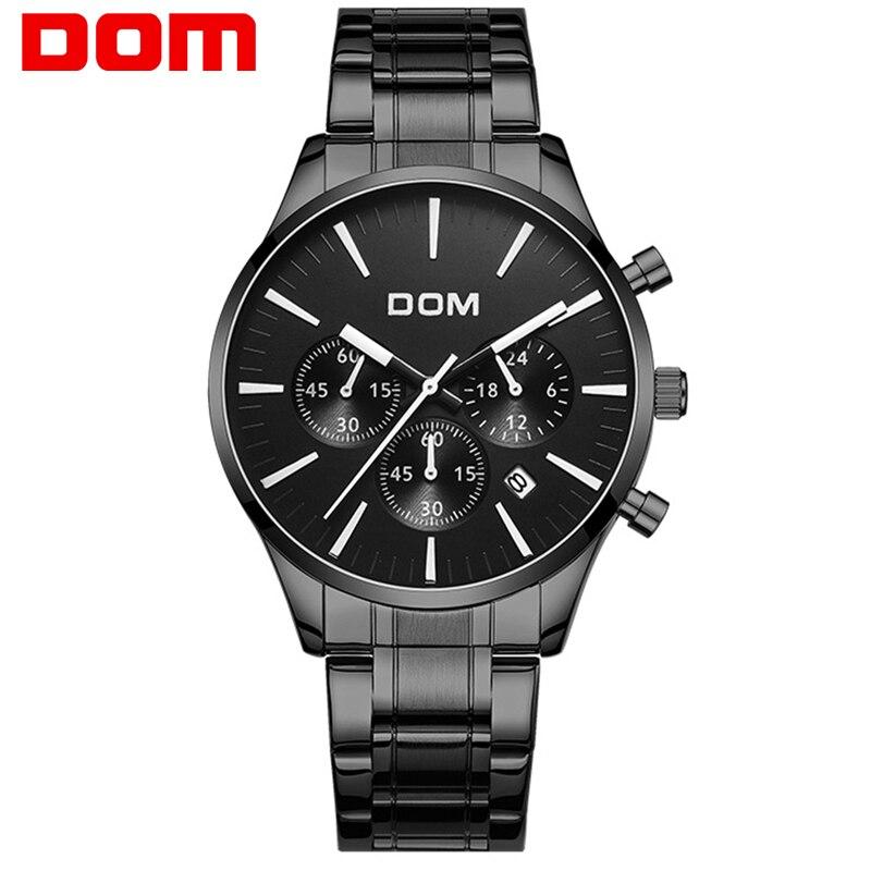 bb2ac0ac728f2c8 DOM Модные мужские наручные часы мужской лучший бренд класса люкс кварцевые  часы для мужчин повседневное Тонкий