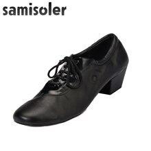 Мужские черные кожаные туфли samisoler b для бальных танцев