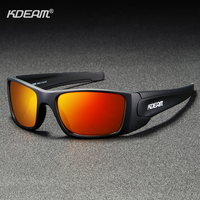 KDEAM Unisex Rectangular Polarized Sunglasses for Men Running Climbing Sports Sun Glasses Real Coated Lens TR90 Frame