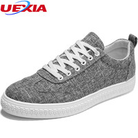 UEXIA New Arrival 2018 High Quality Men Flats Shoes Breathable Fashion Men Casual Canvas Hemp Zapatos