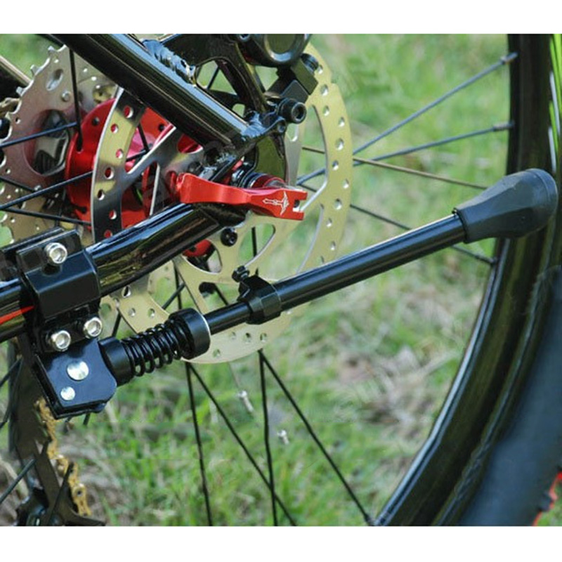 Bicycle Kick Stand Kickstand Aluminum Heavy Duty Adjustable Mountain Bike Cycling Support Side Rear Parking Rack ZJ55