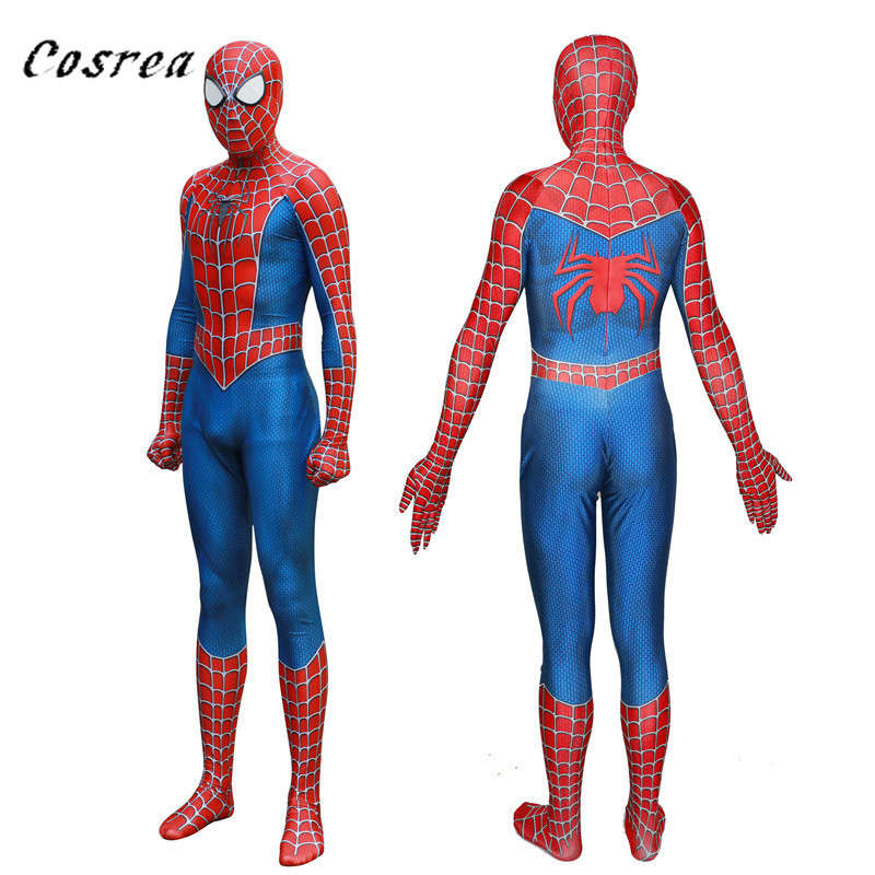 Ainiel Kids Adult Spiderman Homecoming Cosplay Costume Spider Man Suit Superhero Bodysuit Jumpsuits Boys for Halloween Costume