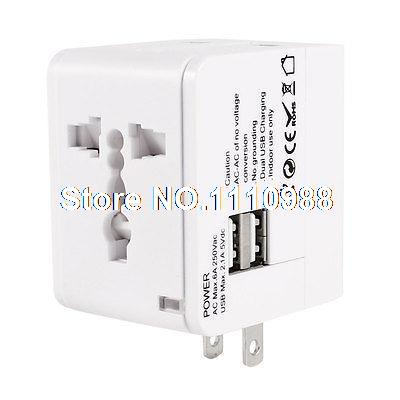 Universal Travel US UK AU EU Charger Travel Adapter AC Power Plug w 2 USB Port ihave tank 3 4a 2 usb port us plug power adapter w eu plug converter black ac 100 240v