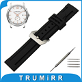 21mm 22mm 23mm 24mm de aço inoxidável pulseira de borracha de silicone assista banda para hamilton pré-v cinto de fivela correia de pulso pulseira