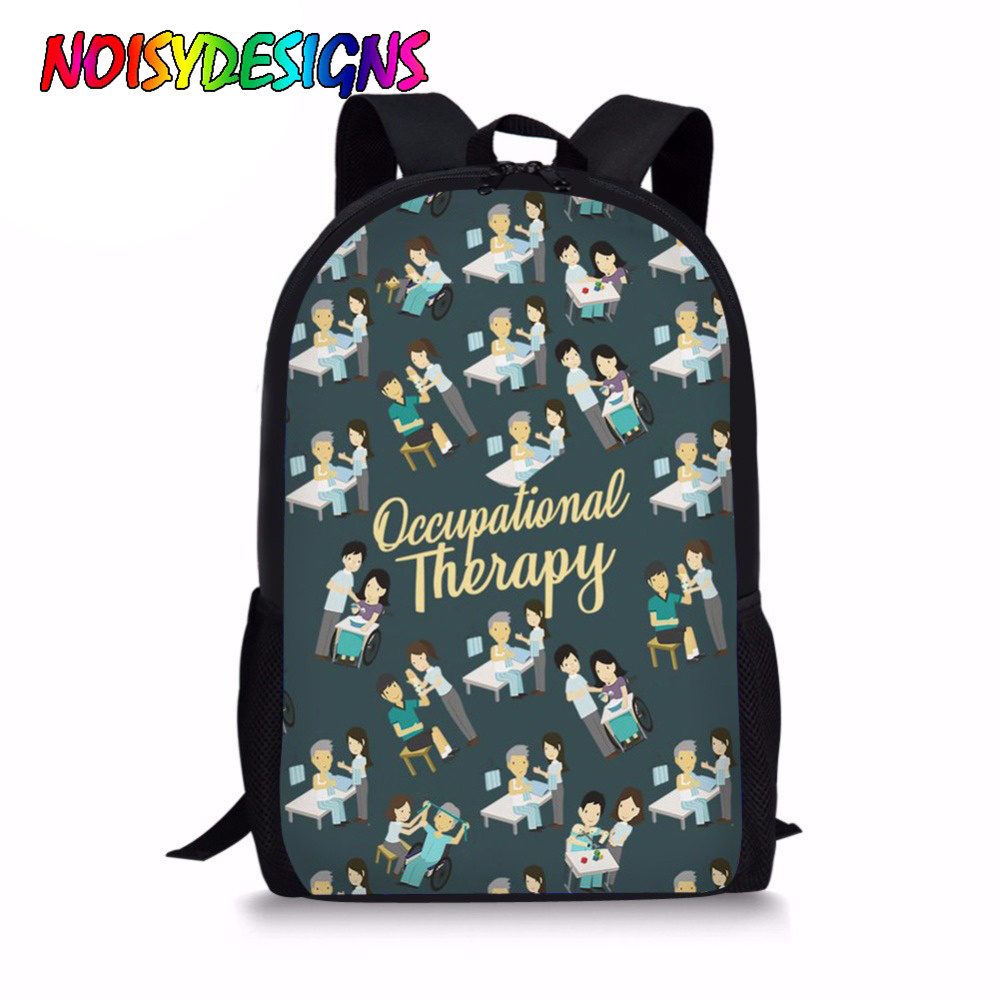 NOISYDESIGNS Children School Bag Occupational Therapy Print 16 Inch Primary Schoolbag for Boys Student Book Bag Girls Mochila image