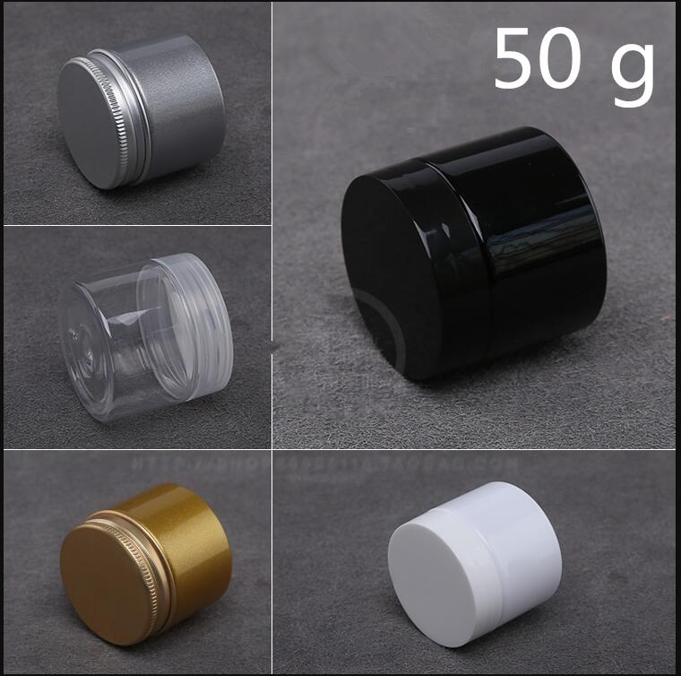 100 pcs 50 g Black Golden Silver Plastic jar Men s Cream Pack Sample Cosmetic Container