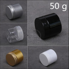 Plastic Jar Cosmetic-Container Dark-Eye-Gel-Bottles 100pcs Cream-Pack Silver Black Golden