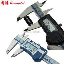 """Высокая точность 0,005 мм Цифровой штангенциркуль Guanglu бренд """" 0-150 мм нержавеющая сталь электронный нониус измерительные инструменты"""