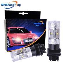 2Pcs 3157 3156 30W Cree Led Chip Lamp car Bulb Auto p27/7w led car bulbs rear Lights Car Light Source parking 12V 24V цена