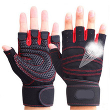 Breathable Training Half Finger Weightlifting Gloves Protect Wrist Gloves Cycling Dumbbell Gym Bodybuilding Sport Fitness Gloves