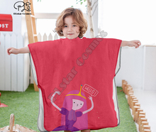 Cartoon adventure time funny Hooded baby Boys and Girls Towel Wearable Bath Towel For Kids Travel 3D print Beach Towels style-4 molly moon s hypnotic time travel adventure