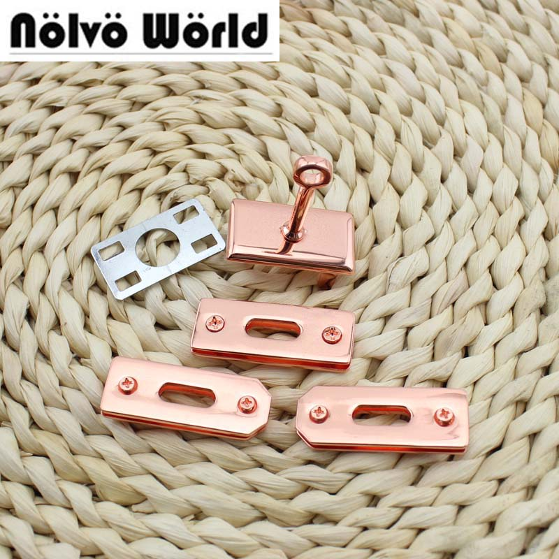 10 sets of Rose gold Locks rosegold hook clasp for sewing top quality ladies tote bags