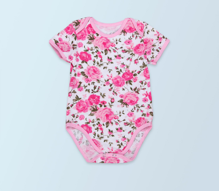 2016 New Rosette Baby Girl Clothes Newborn Cotton jumper Flower Cute Kids short sleeve Rompers jumpsuit girls boutique outfit