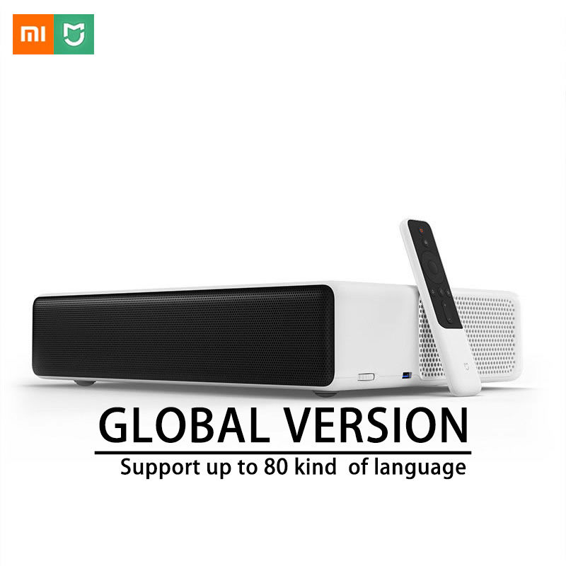 Xiaomi Mijia Laser De Projection TV 150 pouces 5000 lumens 1080 Full HD 4 k Bluetooth 4.0 Wifi Soutien DOLBY DTS interface en anglais