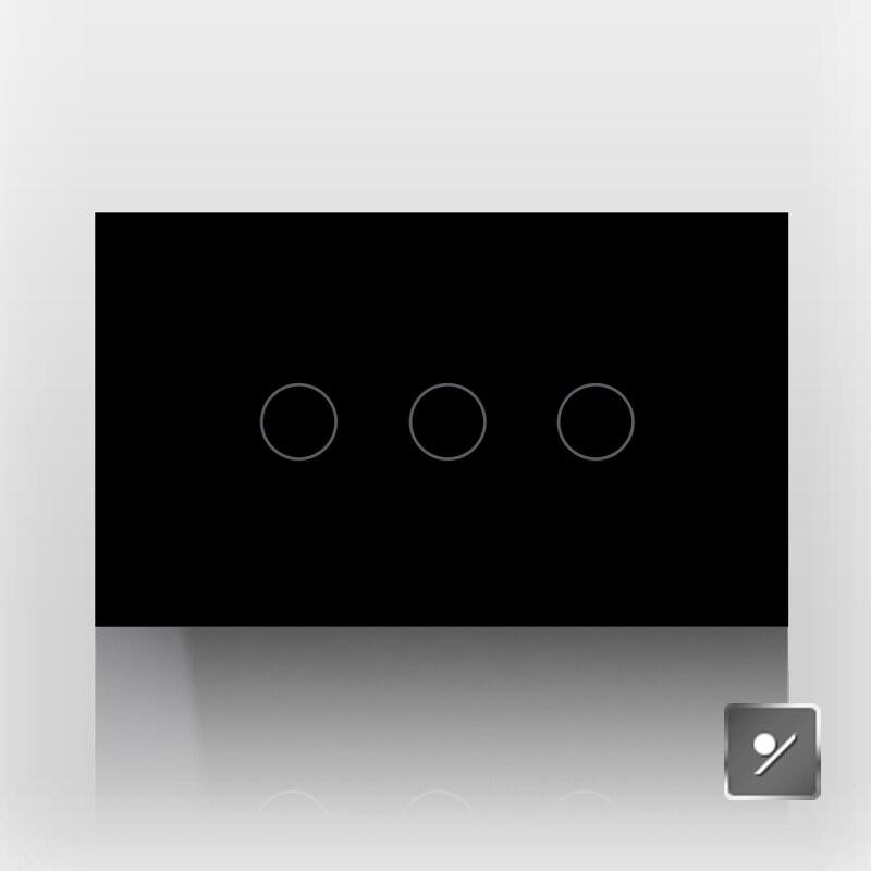 Commutateur 118 tactile interrupteur tactile basculer produits de maison intelligente interrupteur tactile unique