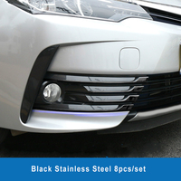 Stainless Steel Accessories front fog light trim for toyota corolla 2017 2018 car styling