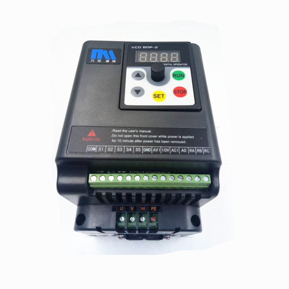 2HP 1.5KW VFD Variable Frequency Driver Inverter 7A 1ph 220V to 3ph 220V