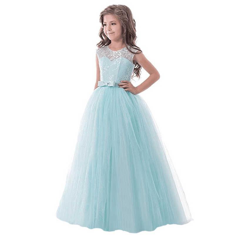 b4ff0c8425d2be4 Элегантные Свадебные Платья с цветочным узором для девочек 11 лет, одежда  для маленьких девочек,