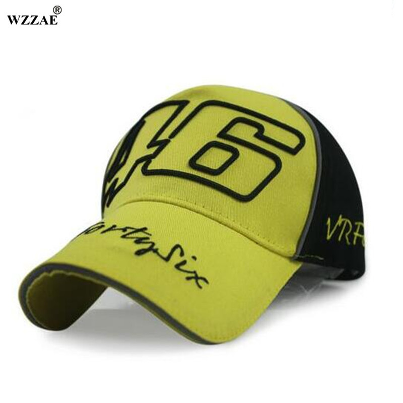 WZZAE 2017 New Style Black Blue F1 cap Car Motocycle Racing MOTO GP VR 46 rossi Baseball Cap Fashion Hat Women Men Snapback Caps 100% cotton racing car sline baseball cap rs speedway hat racing moto gp speed car caps men and women snapback fans s line hats