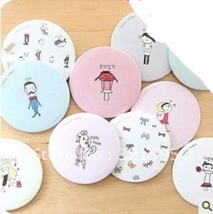 Min.order is $15 (mix order) Fashion Makeup Mirror Lovely portable handy mirror AQ2755