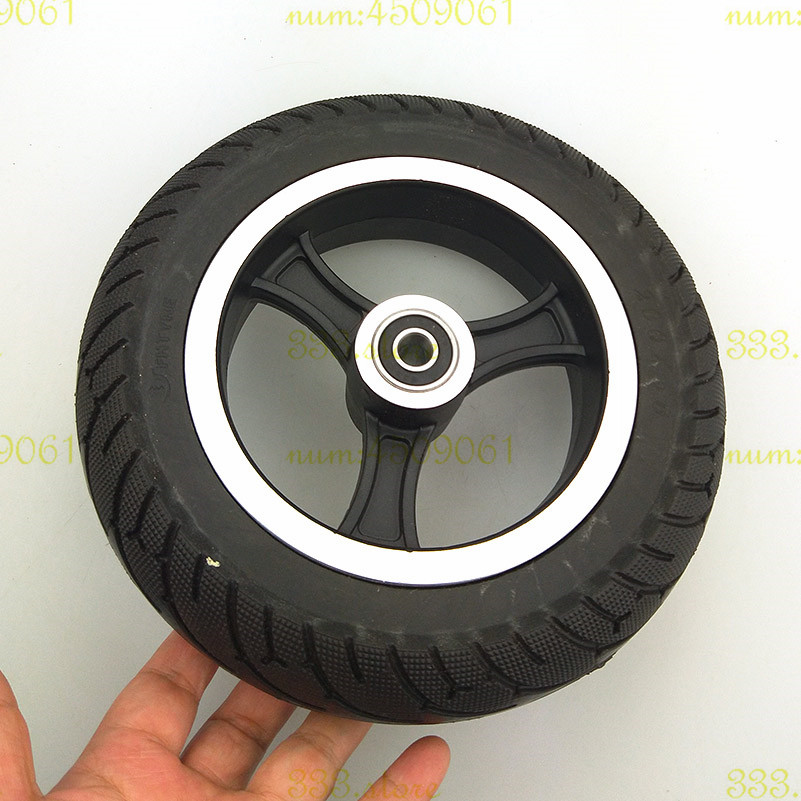2pcs 200 x 50 tyre (8x2) Solid Tire and alloy wheel hub Fits Gas Scooter Electric Scooter Vehicle Mobility Scooter wheelchair