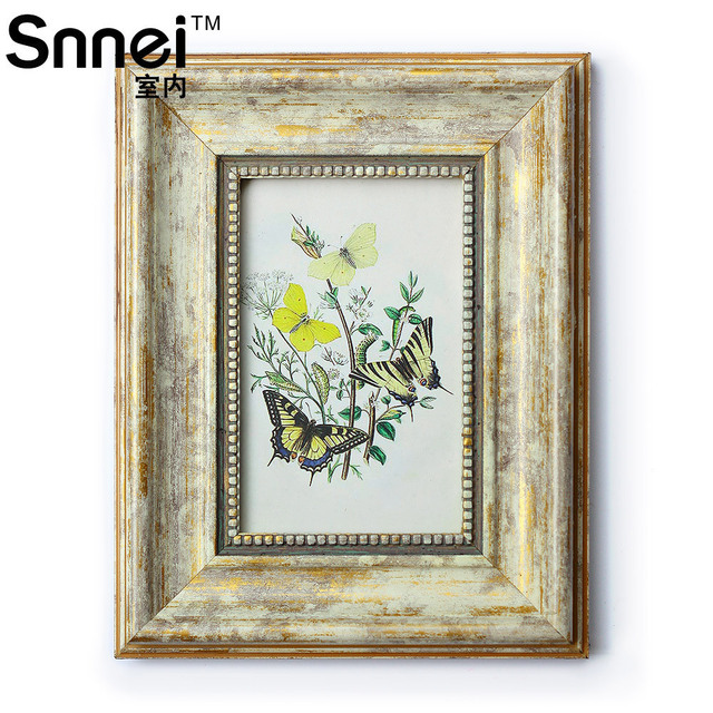 snnei indoor retro vintage gold whitewashed frames do the old classical european style 36 - Whitewashed Picture Frames