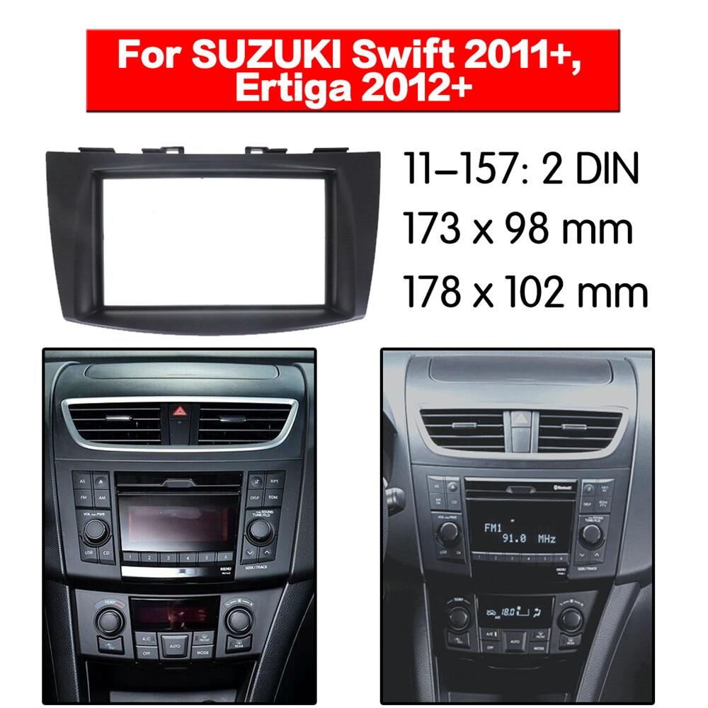 Car Stereo Fascia Dash Panel 2 Din Frame Trim Kit For Suzuki Swift 2011+//Ertiga