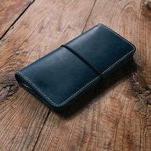 Handmade Unisex wallet Vintage Designer High Quality 100% Genuine Cowhide Leather women's Long Clutch Wallet