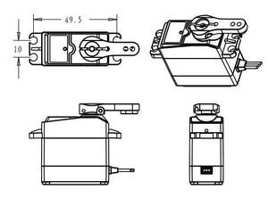 Image 5 - 1X Wasserdichte rc servo DS3218 Update und PRO high speed metal gear digitale servo baja servo 20KG/.09S für 1/8 1/10 Skala RC Autos