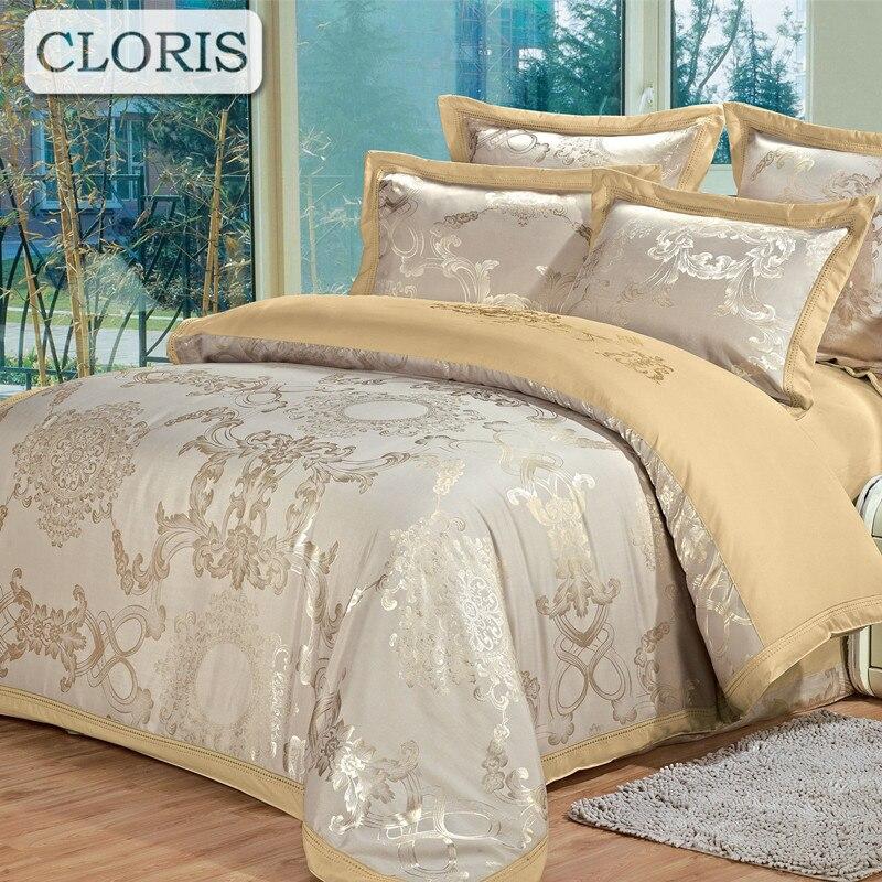 Клорис Дизайн поступление хлопок Постельное белье жаккард Домашний текстиль удобная кровать ткань высокое качество Постельные принадлежн