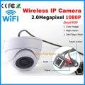 Onvif 1080 P HD de 2.0MP Full hd Sem Fio Mini Câmera Dome IP wi-fi 24 pcs LED Interior P2P Suporte para Câmera de Rede IP + Botão de Reset