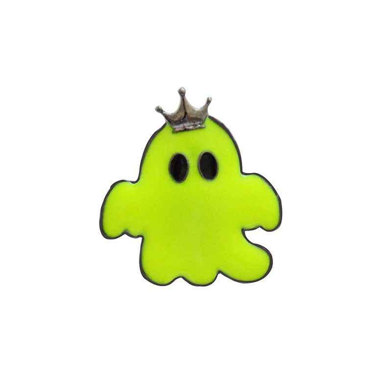 Сплав булавки мультфильм призрак нагрудный знак брошь Хэллоуин шпильки значки кнопки ювелирные изделия для модные подарки